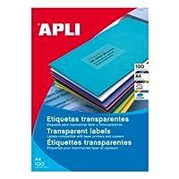 【APLI】レーザーコピーA4透明ラベル20枚21面(AP-10968)
