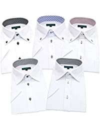 GREENWICH POLO CLUB(グリニッジポロクラブ) 半袖ワイシャツ 5枚セット メンズ 形態安定