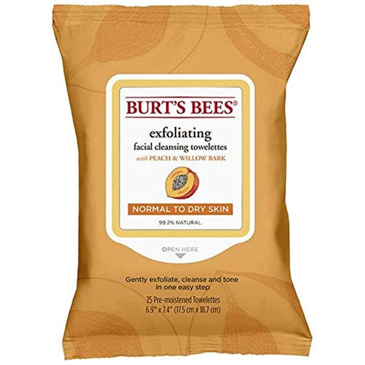 カセット岸製作[Burt's Bees ] バーツビー洗顔ペーパータオルの桃&樹皮のX25 - Burt's Bees Facial Cleansing Towelettes Peach & Bark x25 [並行輸入品]