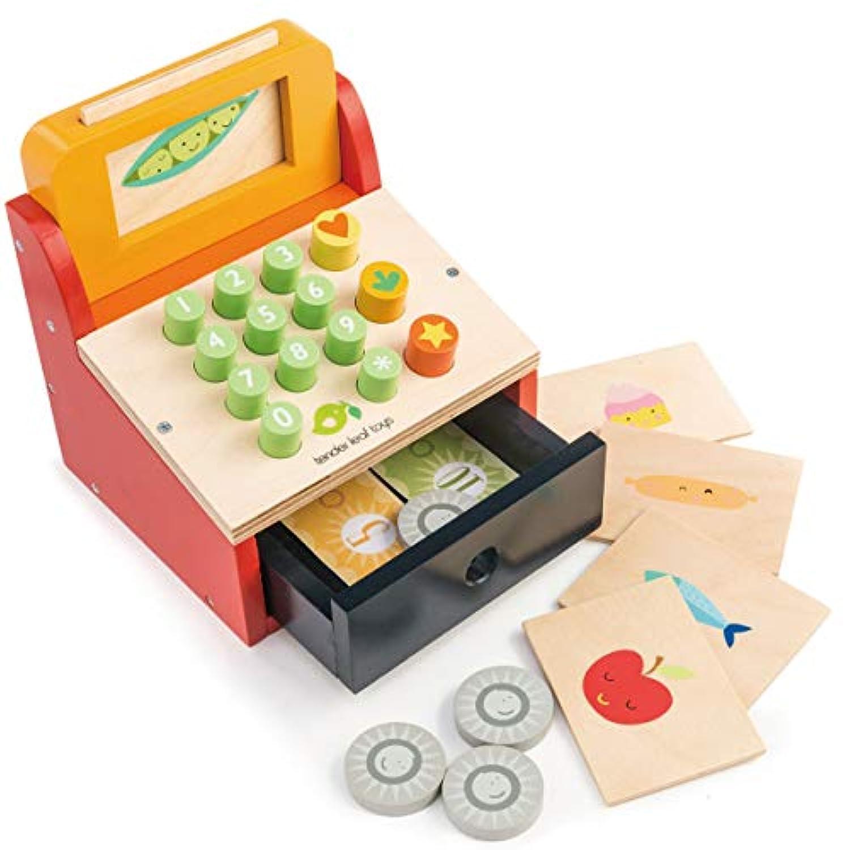 tender leaf toys 木製 ティルウィズマネー レジスターセット イギリスデザインのレジスターでお店屋さんごっこ コイン カード付 おもちゃ ごっこ遊び 男の子 女の子 知育玩具