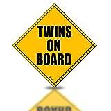 Zento Deals Twins On Board反射マグネット標識