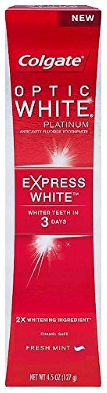 Colgate オプティックホワイトプラチナの歯磨き粉、エクスプレスホワイト - 4.5オンス
