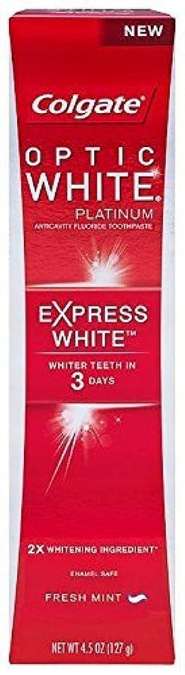 く啓示奪うColgate オプティックホワイトプラチナの歯磨き粉、エクスプレスホワイト - 4.5オンス