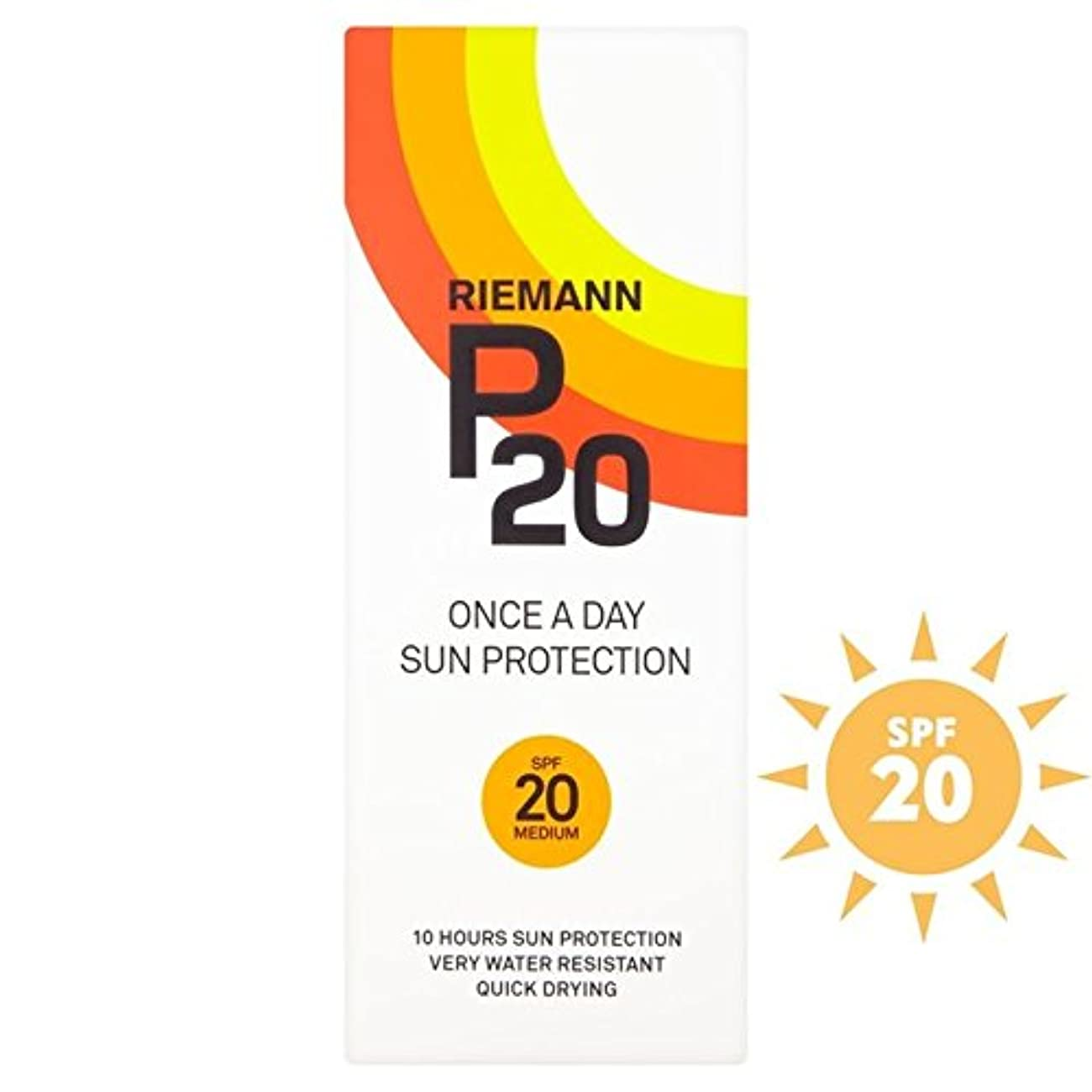 バックグラウンドおかしいエンジニアリングRiemann P20 SPF20 1 Day/10 Hour Protection 200ml (Pack of 6) - リーマン20 20 1日/ 10時間の保護200ミリリットル x6 [並行輸入品]