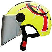 ZXW ヘルメット- 電動スクーターヘルメット男性と女性四季ユニバーサル軽量サンスクリーンハーフヘルメット (色 : B)