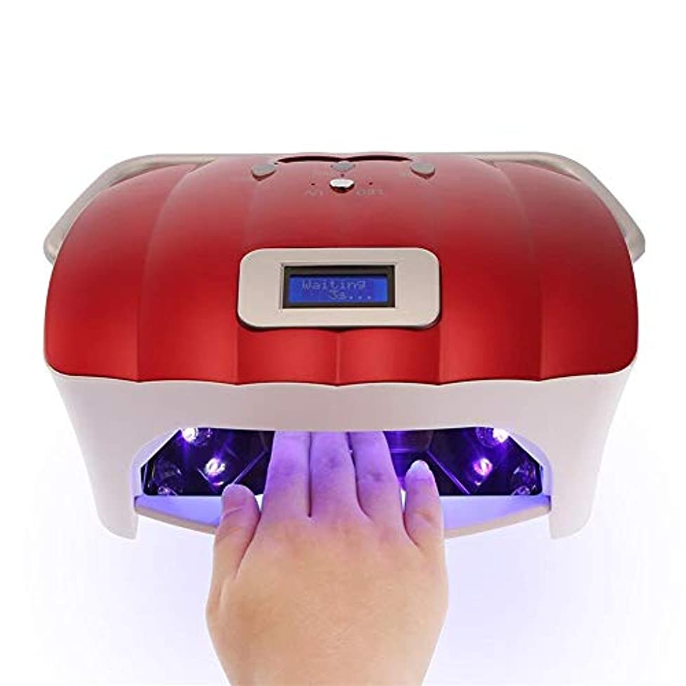 感謝する消す同性愛者54ワットled uvネイルランプネイルドライヤーライト機でhandprpr professionalプロフェッショナル指爪&toenail uvジェル硬化ネイルマニキュアツール