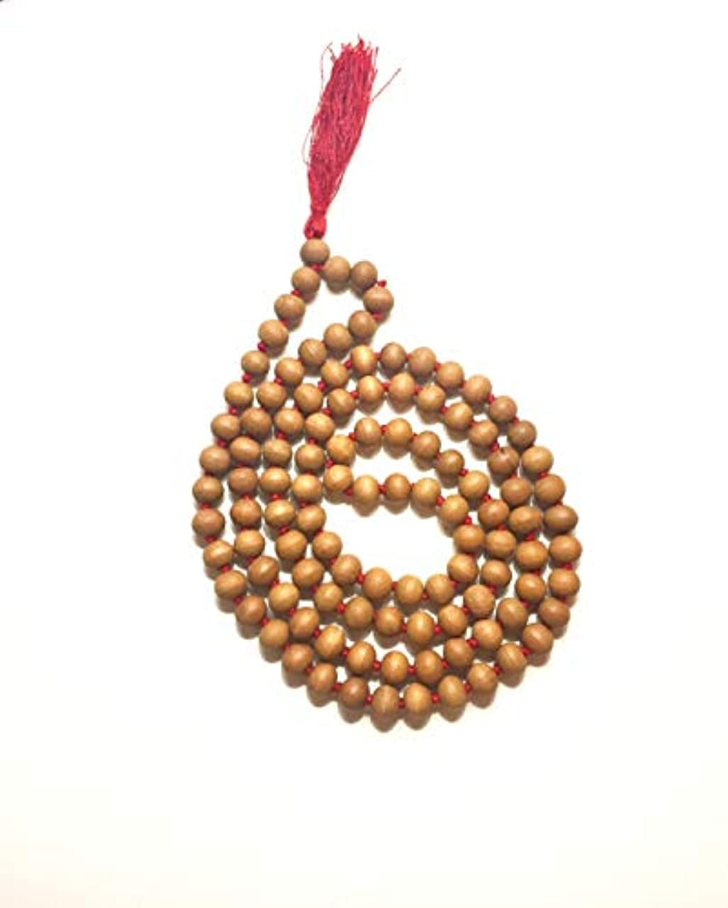 窒素先祖到着するCMEI サンダルウッド ジャップ マーラ 108+1 ビーズ 瞑想用