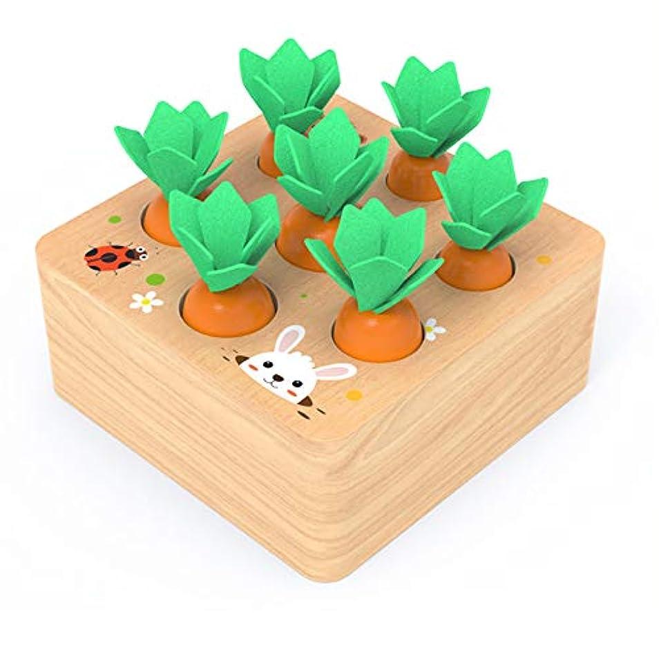 疑問に思う天気太いニンジンは幼児のための形状サイズ選別ゲームを収穫します-教育用木製おもちゃ、2 3 4歳の男の子と女の子のためのファインモータースキル開発ギフト