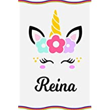 Reina: Personal Notebook Personal Diary Unicorn Notebook Personalized Journal Customized Journal Unicorn Lover Personal Name Notebook