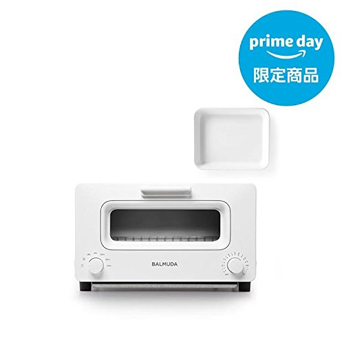 バルミューダ スチームオーブントースター BALMUDA The Toaster K01E-WS(ホワイト)+野田琺瑯ホワイトバット 21取(バルミューダ ロゴ入り) プライムデー限定販売