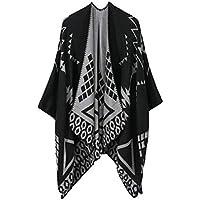 QIYUN.Z Women's Long Soft Warm Geometric Diamond Pattern Pashmina Wrap Shawl