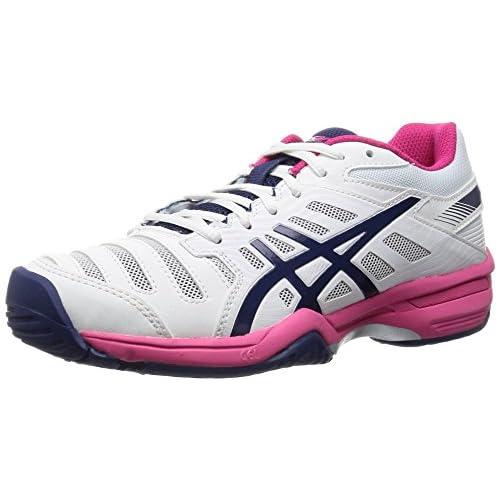 [アシックス] テニスシューズ LADY GEL-SOLUTION SLAM 3 OC TLL775 150ホワイト/ネイビー 23.0