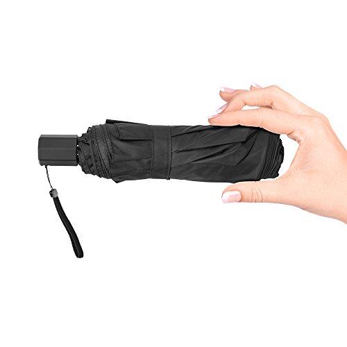 超軽量 折りたたみ傘  TAIKUU 軽量 折り畳み傘 メンズ 240g 晴雨兼用吸水カバー付き (ブラック)