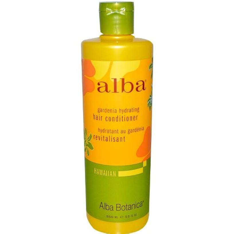イースターハング蓋Alba Botanica, Gardenia Hydrating Hair Conditioner, 12 fl oz (350 ml)