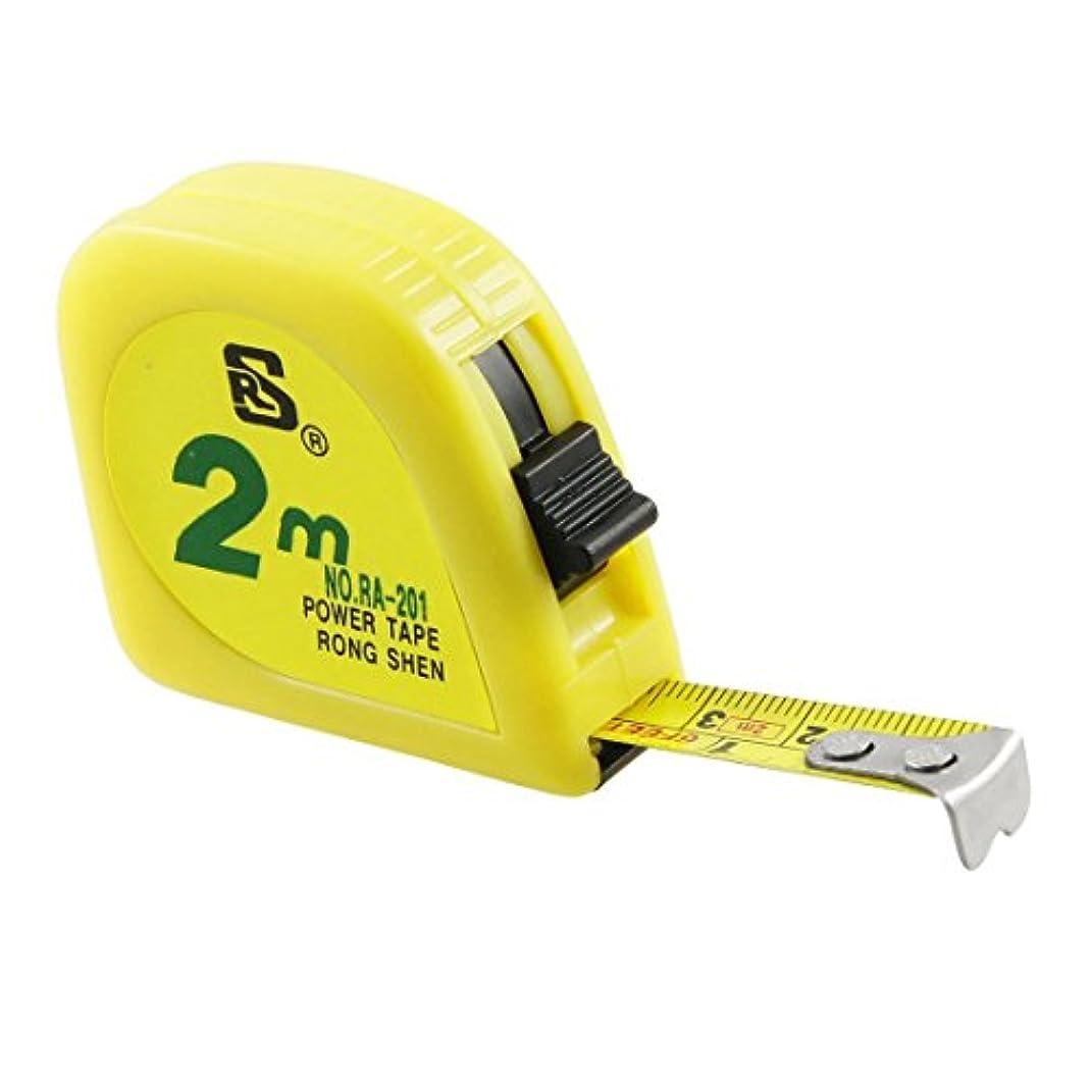 触手痛みテロリストupperx 黄色 2M 6FT テープメートル 測定テープ スケール金属カプセル