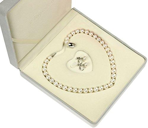 本真珠ネックレス&イヤリングセット 極太10-10.5mm  高級パールキーパー付 【品質保証】