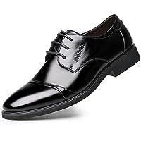 Fengbao 革靴 ビジネスシューズ メンズ シークレット 本革 6cm UP レースアップ 靴 通勤 カジュアル 屈曲性