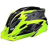 Osize ワンピース調節自転車乗り物ヘルメット複数の大きな換気穴バイク(緑+黒)