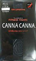 キャロン CANNA CANNA 【3足セット】 フィットネスタイツ 足つき 50デニール フィットネス&ダンス 日本製 LD112 カタクラ (ブラック, M~L:1足 L~LL:2足)
