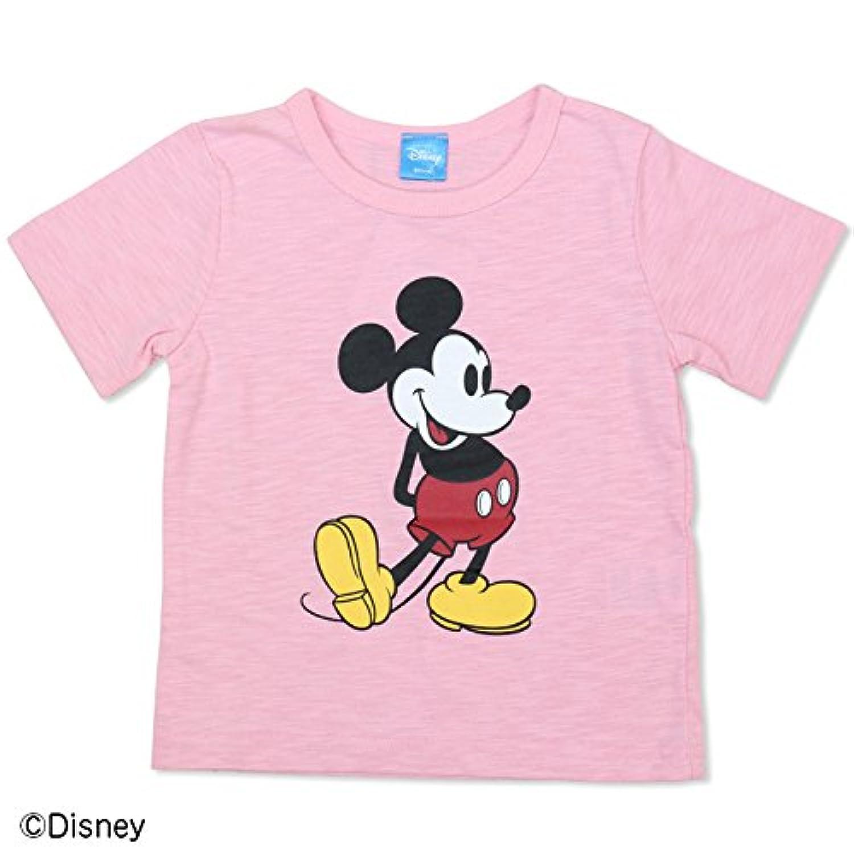 ミッキーマウス 半袖 Tシャツ ベビー キッズ 子供服 ベビー服 カラバリ スラブ天竺 男の子 女の子 トップス DISNEY ピンク 130cm 94180581PI130