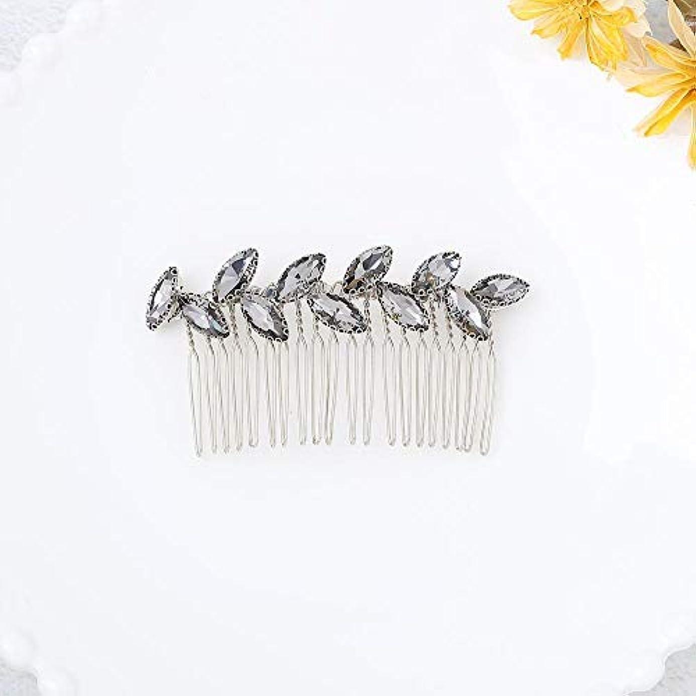 治安判事病的広くJovono Bride Wedding Hair Comb Bridal Headpieces with Rhinestone for Women and Girls (Silver) [並行輸入品]