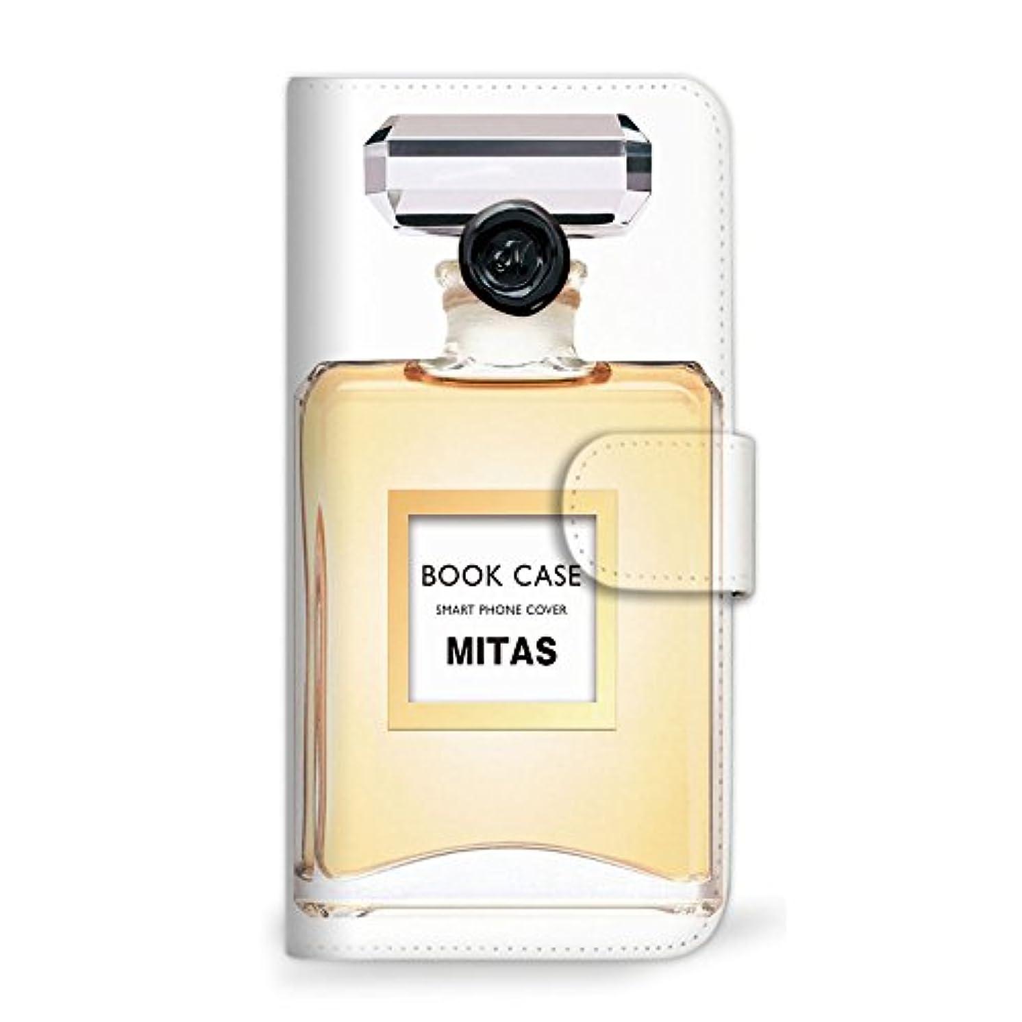 ホールランドマーク価値のないmitas Galaxy S8 Plus SC-03J ケース 手帳型  香水2 オレンジ (342) SC-0155-OR/SC-03J