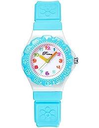 laza キッズ 子供用腕時計 女の子用 かわいい クオーツ時計 男女兼用 (淡ブルー)