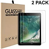 2 Pack Screen Protector by Bodyguard for New iPad 5th/6th 9.7 (2018/2017) / iPad Air 2 / iPad Pro 9.7 / iPad Air Tempered Glass Screen Protector with Retina Display, Scratch Resistant, Ultra Clear