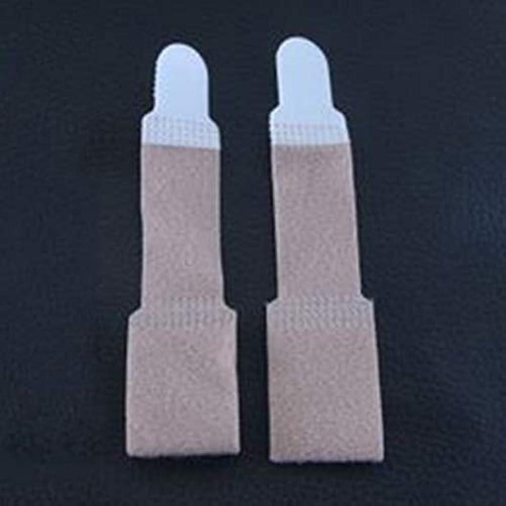 チーター常習的アコー2PCS / SET通気性のつま先指矯正器ハンマーつま先外反母gus矯正包帯つま先セパレーターフットケア包帯-肌の色