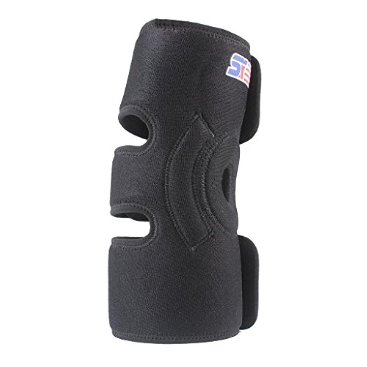 競争小説好きKesoto ニーパッド ニーブレース 調節可 スポーツサポート 膝ガード 保護ブレース プロテクター 2つのスプリング付き