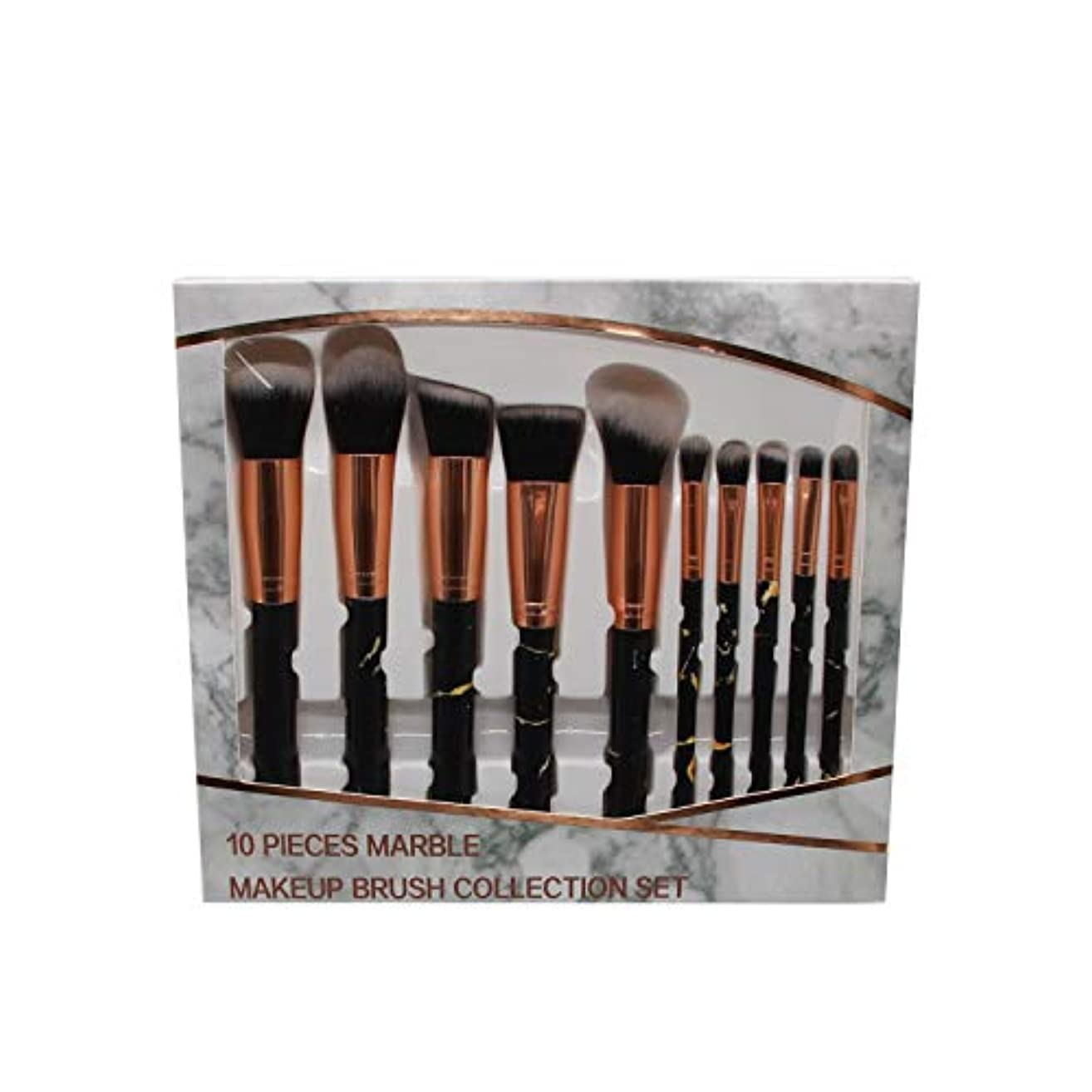 維持する臭い交響曲Makeup brushes 洗練された合成ファンデーションコンシーラーアイシャドウフェイシャルメイクアップブラシセット(10個)、マーブルメイクアップブラシセット suits (Color : Pink)