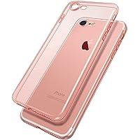 Nowest (ノウェスト) iphone8 iphone7 ケース クリアケース 薄型 0.8mm 超軽量 耐衝撃 防指紋 Nowestオリジナルクリーニングクロス付き (iPhone8/7 , クリアローズゴールド)