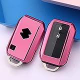 Car Key Cover for Suzuki Swift V Suzuki Swift Waggon R Soft Silicone Key Fob Cover Holder Protector Key Case Keyring Purple Black,Pink
