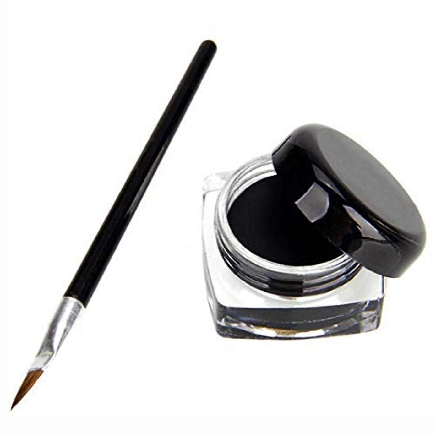 パッケージ引退する共和国Underleaf ブラック防水アイライナージェル化粧品+女性のための美容ツール