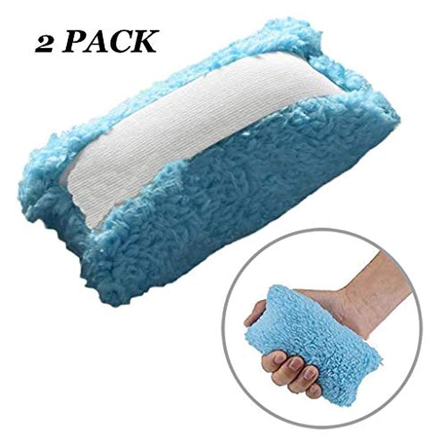 シャーライナー探偵脳卒中片麻痺のための指分離拘縮クッション、指をつまむ手、通気性、吸湿性高齢者ケアパッドを防ぐ,2pcs