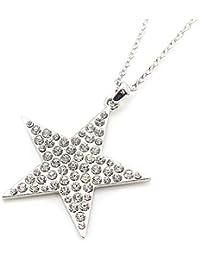 Barzaz スター ロングネックレス ネックレス 星のネックレス 大振り 星 キラキラ