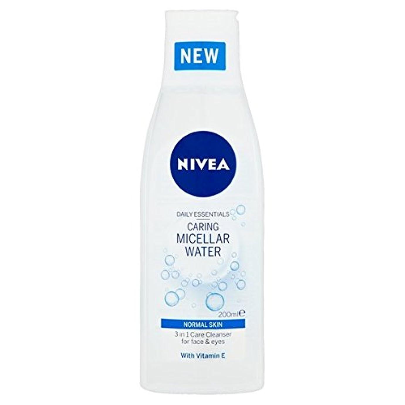 1つの敏感な思いやりのあるミセル水の正常な皮膚の200ミリリットルでニベア3 x4 - Nivea 3 in 1 Sensitive Caring Micellar Water Normal Skin 200ml (Pack...