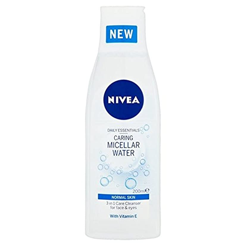 コードレス彼ら女優1つの敏感な思いやりのあるミセル水の正常な皮膚の200ミリリットルでニベア3 x4 - Nivea 3 in 1 Sensitive Caring Micellar Water Normal Skin 200ml (Pack...
