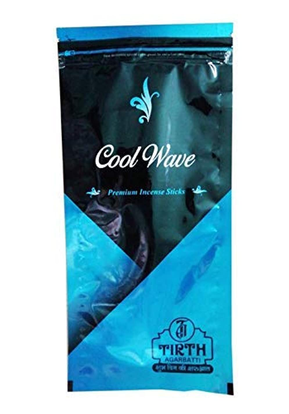 カイウス盆地安定したTIRTH Cool Wave Premium Incense Stick/Agarbatti (170 GM Pack) Pack of 2
