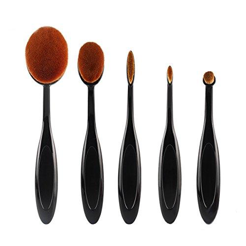 化粧ブラシ 歯ブラシ型メイクブラシ ファンデーションブラシ 5本セット