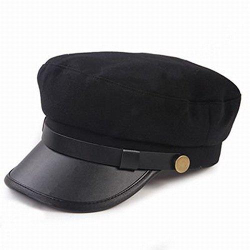 学生帽風 クラシカルハット 黒 シンプルなファッション 渋いおしゃれ帽 55cm