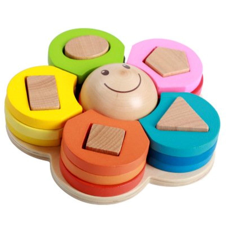 幼児発育形はめ合わせ 幼児おもちゃ 発育 知能 教育 勉強 積み木 遊ぶ勉強道具 [並行輸入品]