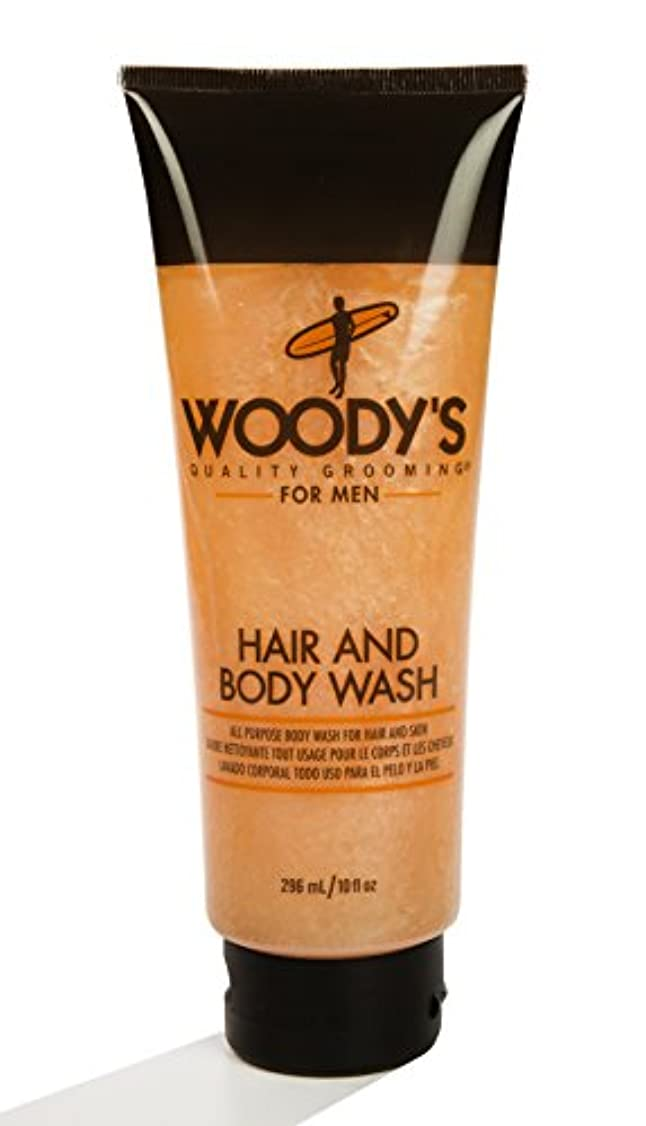 学部長水没おWoody's Quality Grooming for Men Hair and Body Wash 10 Ounces
