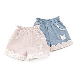 coeur a coeur (クーラクール ) ショートパンツ (70~100cm) キムラタンの子供服 (44117-171b) ピンク 100