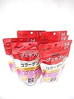 機能性表示食品 UHAグミサプリ コラーゲン グレープフルーツ味 スタンドパウチ 28粒 14日分 X6個セット