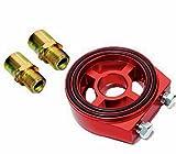 オイルブロック サンドイッチ オイルフィルター Oリング 油圧センサー 油温計センサー アダプター センターボルト アタッチメント M20×1.5 3/4UNF×16 1/8NP レッド
