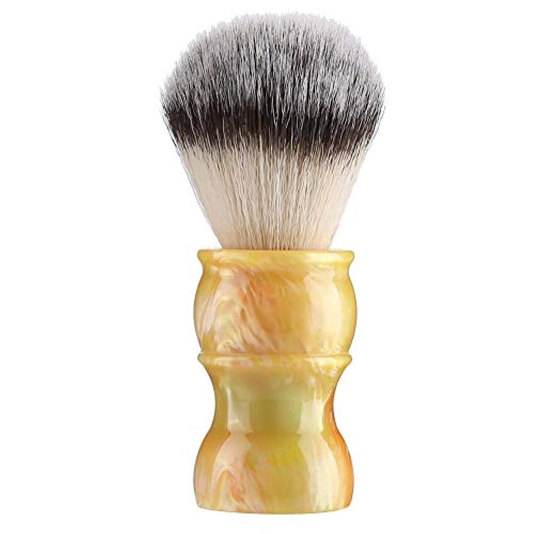 母エゴイズムギャラントリー専門の手動ひげの剃るブラシ、密集したナイロン毛のきれいな人の口ひげのブラシ家および旅行のための携帯用メンズひげのブラシ(#3)
