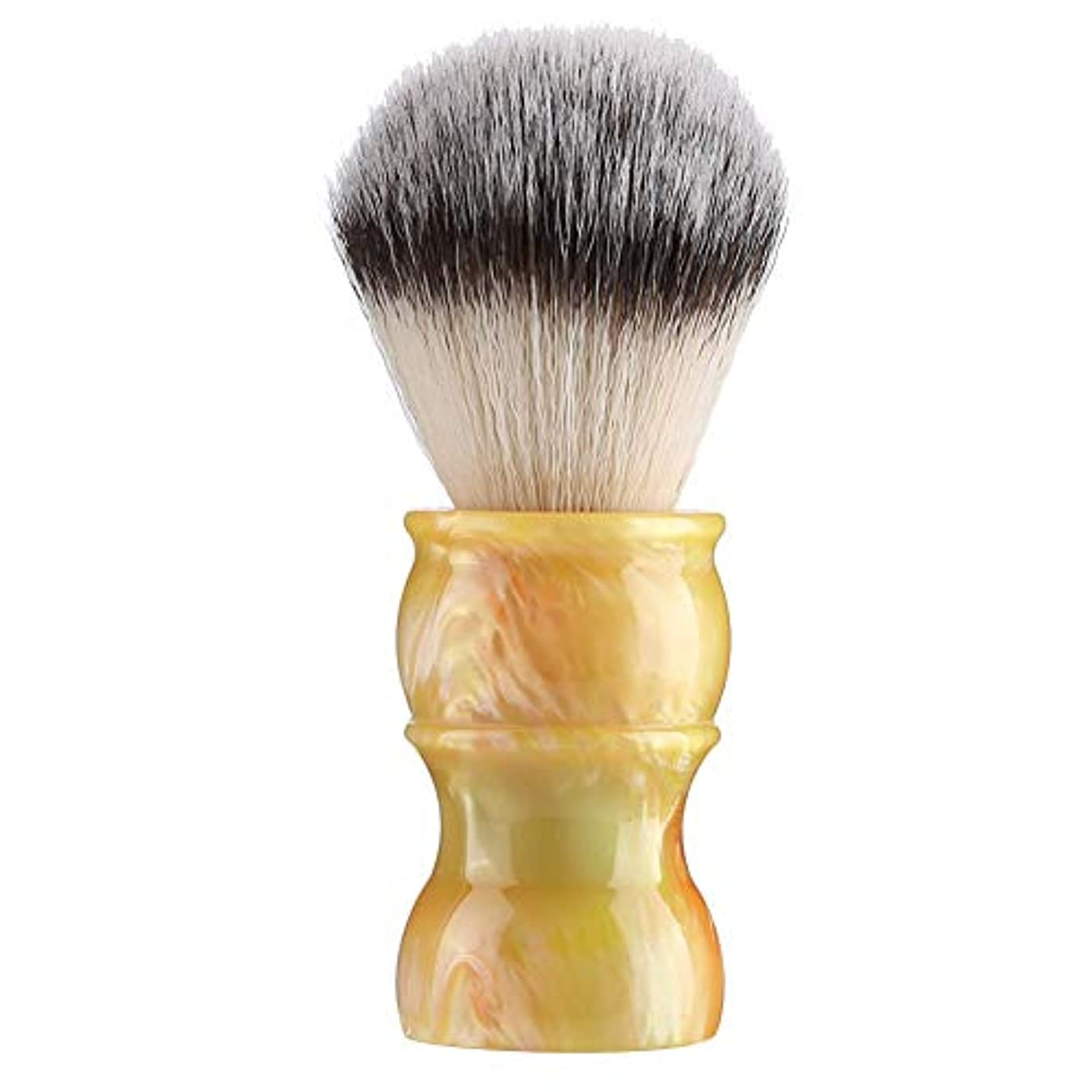 専門の手動ひげの剃るブラシ、密集したナイロン毛のきれいな人の口ひげのブラシ家および旅行のための携帯用メンズひげのブラシ(#3)