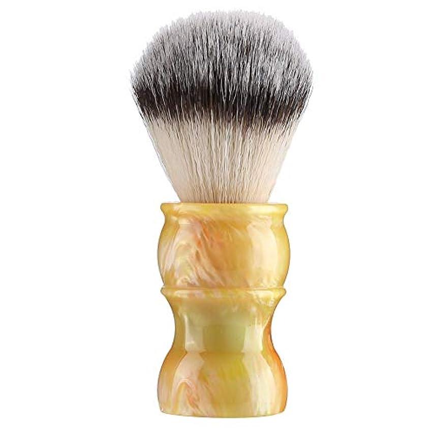 傑作位置するアーティスト専門の手動ひげの剃るブラシ、密集したナイロン毛のきれいな人の口ひげのブラシ家および旅行のための携帯用メンズひげのブラシ(#3)