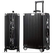 東京2020大会提携スーツケース アルミ・マグネシウム合金 軽量 静音 TSAロック搭載 ブラック (L)